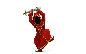 Concept Art of wizard attacking with a sword