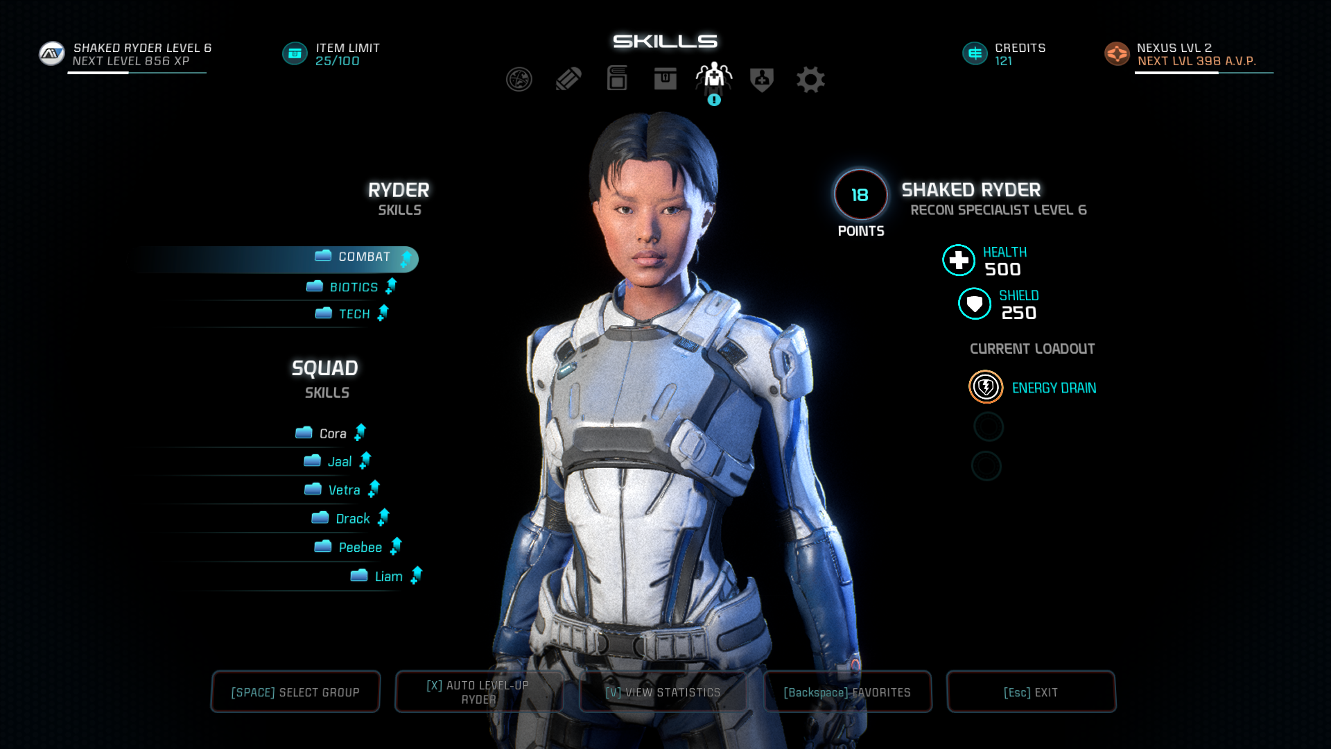 Mass Effect Andromeda Skills