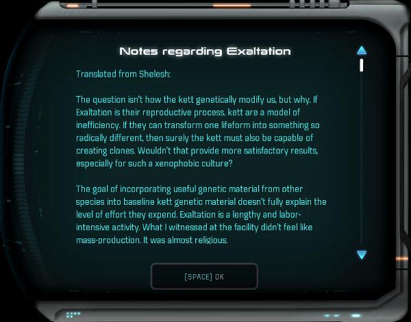 Notes regarding Exaltation - Mass Effect: Andromeda Wiki
