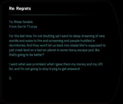 Re: Regrets