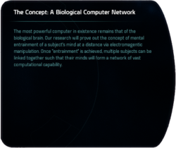 The Concept: A Biological Computer Network