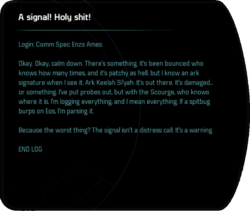 A signal! Holy shit!