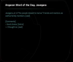 Angaran Word of the Day: Javegara