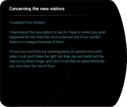 Concerning the new visitors