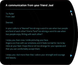A communication from your friend Jaal