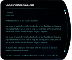 Communication from Jaal