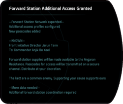 Forward Station Additional Access Granted