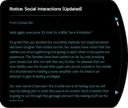 Notice: Social Interactions (Updated)