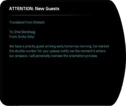 ATTENTION: New Guests