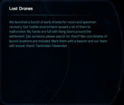 Lost Drones