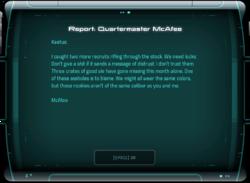 Report: Quartermaster McAfee