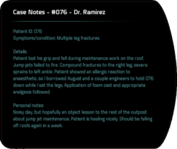 Case Notes - #076 - Dr. Ramirez
