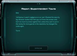 Report: Superintendent Tauris