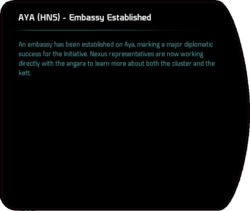 AYA (HNS) - Embassy Established