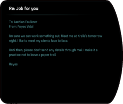 Re: Job for you