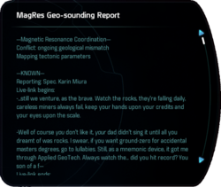 MagRes Geo-sounding Report