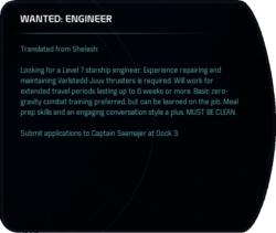 WANTED: ENGINEER