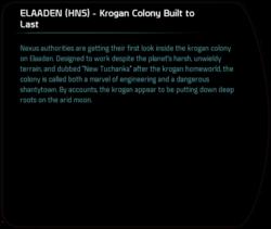 ELAADEN (HNS) - Krogan Colony Built to Last