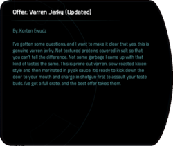 Offer: Varren Jerky (Updated)
