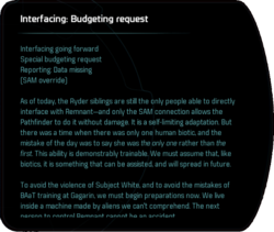 Interfacing: Budgeting request