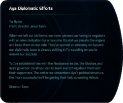 Aya Diplomatic Efforts