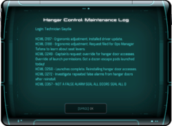 Hangar Control: Maintenance Log