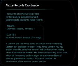 Nexus Records Coordination