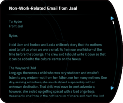 Non-Work-Related Email from Jaal