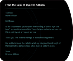 From the Desk of Director Addison