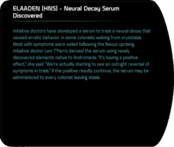 ELAADEN (HNS) - Neural Decay Serum Discovered