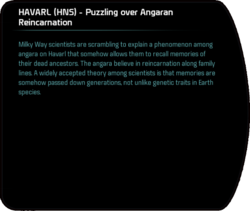 HAVARL (HNS) - Puzzling over Angaran Reincarnation