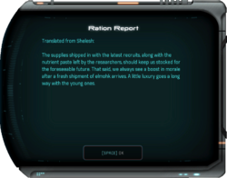 Ration Report