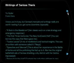 Writings of Sarissa Theris