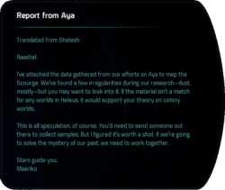 Report from Aya