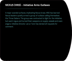 NEXUS (HNS) - Initiative Arms Outlaws