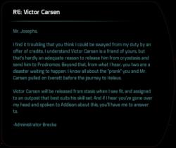 RE: Victor Carsen
