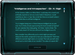 """""""Intelligence and Introspection"""" - Dr. K. Nigh"""