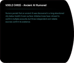 VOELD (HNS) - Ancient AI Rumored