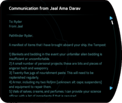Communication from Jaal Ama Darav