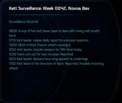 Kett Surveillance: Week 0042, Novoa Bav