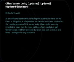 Offer: Varren Jerky (Updated) (Updated) (Updated) (Updated)