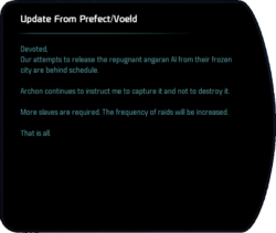 Update From Prefect/Voeld