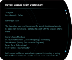 Havarl: Science Team Deployment