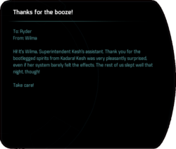 Thanks for the booze!