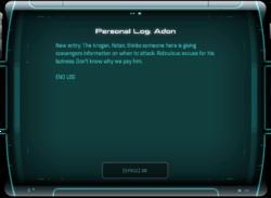 Personal Log: Adon