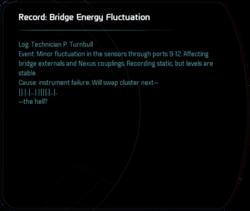 Record: Bridge Energy Fluctuation