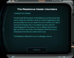 The Resistance Needs Volunteers