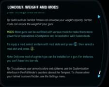 Tutorials - Loadout - Weight and Mods Crop 2.png
