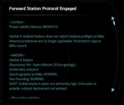 Forward Station Protocol Engaged