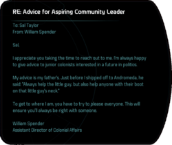 RE: Advice for Aspiring Community Leader